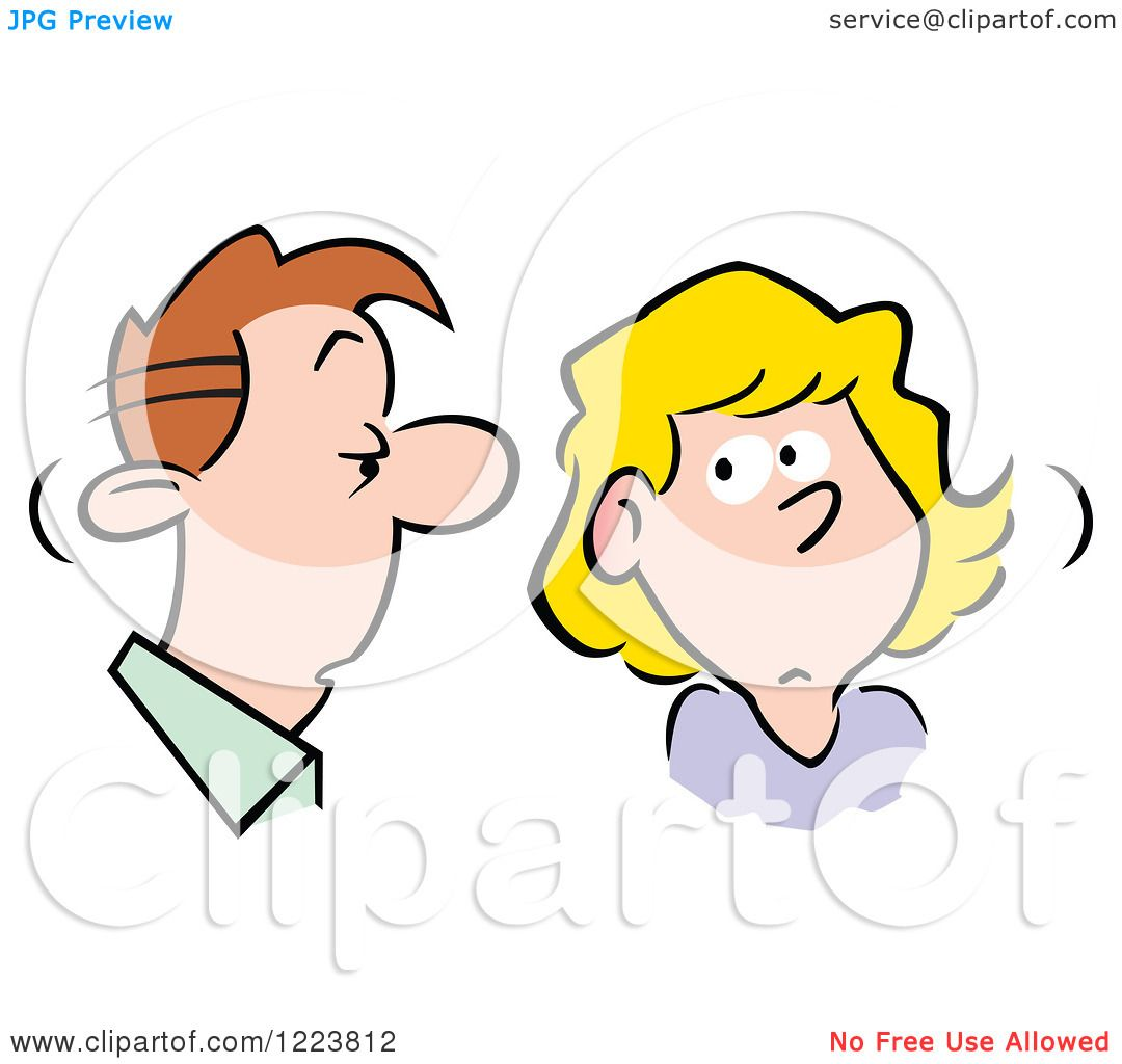 clipart of a man and woman talking about gossip royalty free rh clipartof com gossip clipart gossip clipart