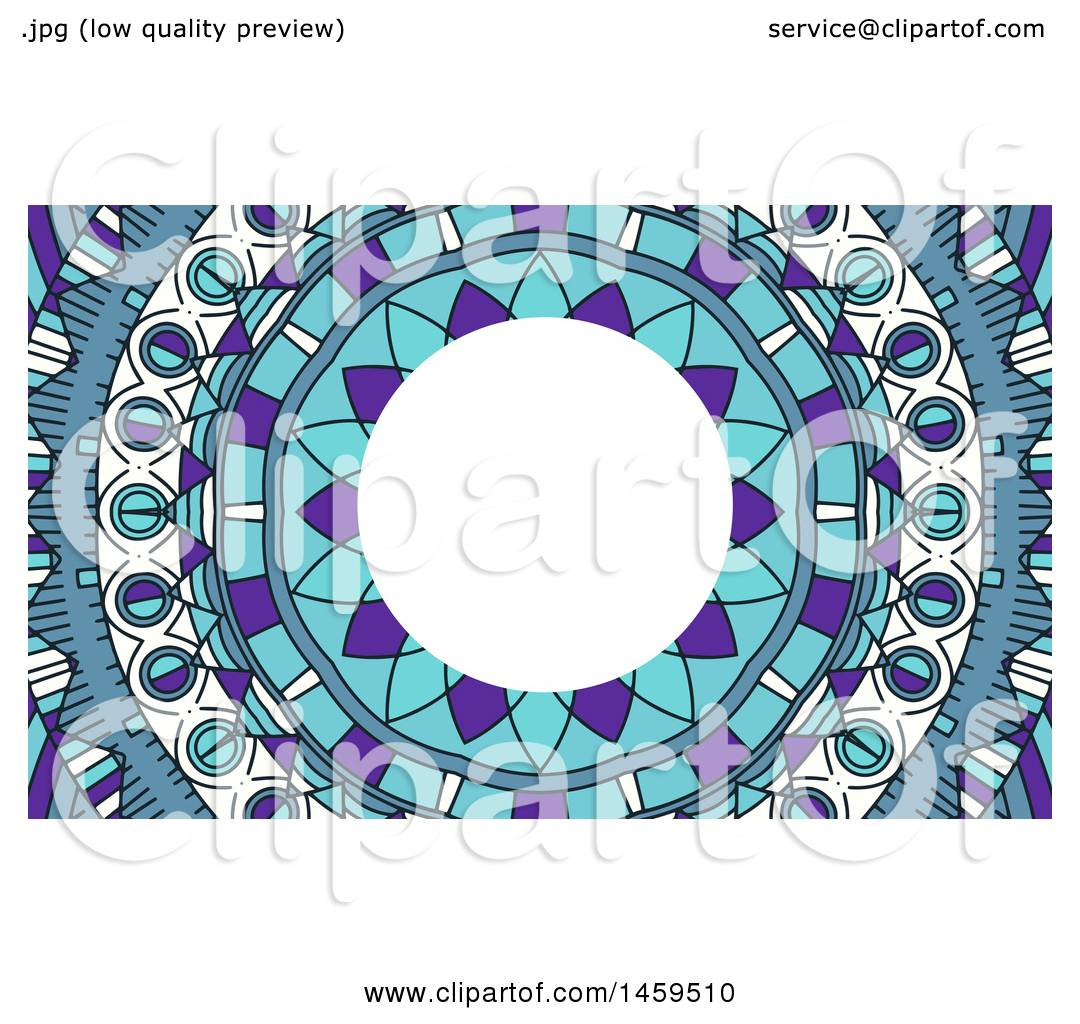 Clipart of a Mandala Business Card Background - Royalty Free Vector ...