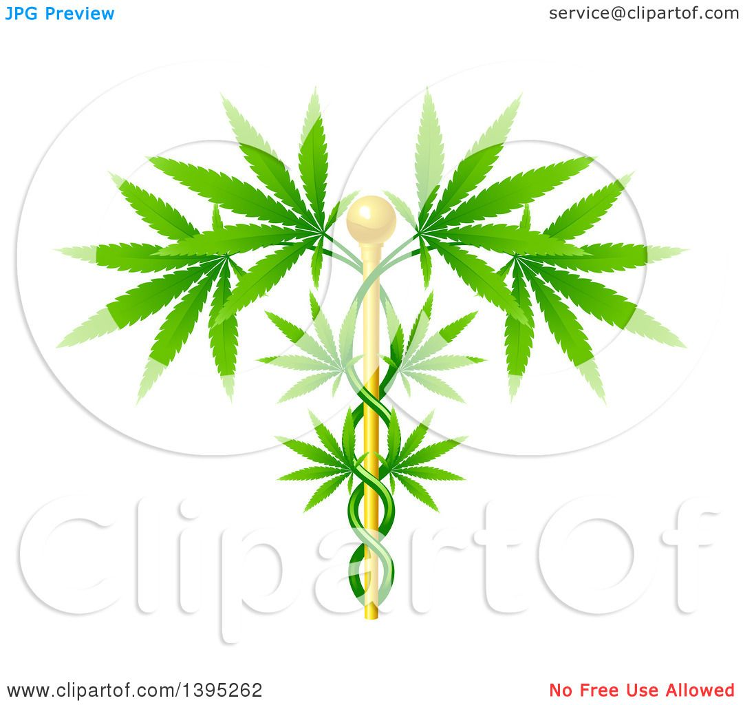 Clipart of a Medical Marijuana Design with a Cannabis Plant ...