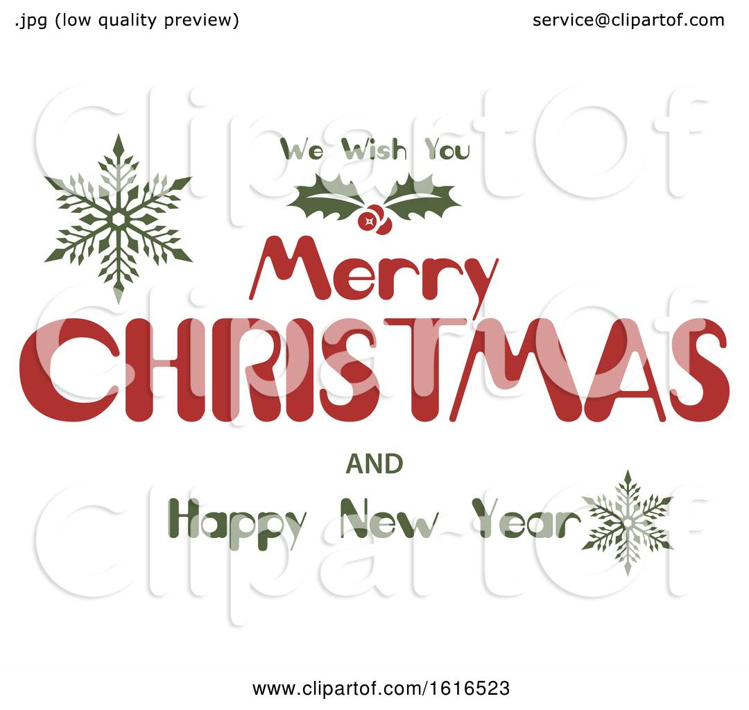 clipart of a merry christmas and happy new year greeting royalty free vector illustration by dero