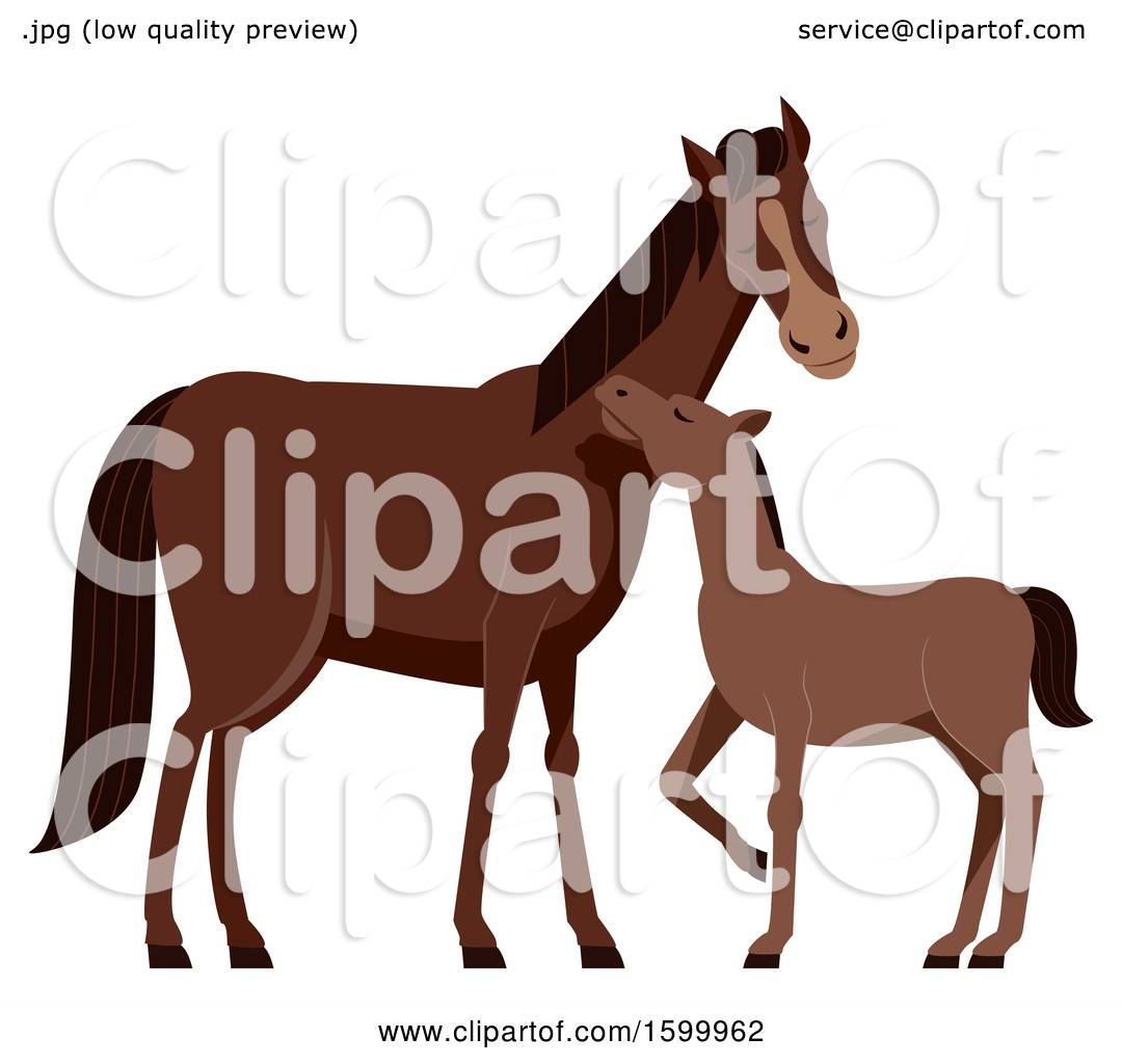 Vector Horse Mom And Baby Hug for Mother's Day - Download Free Vectors,  Clipart Graphics & Vector Art