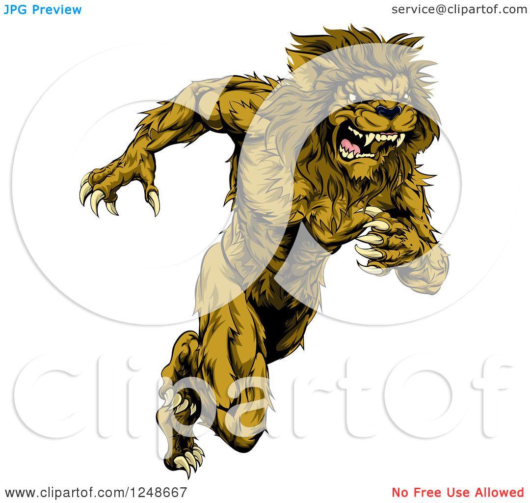 Lion Running Clipart