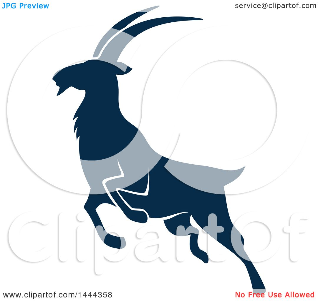 clipart of a navy blue mountain goat with a white outline royalty free vector illustration by Mini Martini Glass Cartoon Cocktail Glass Clip Art