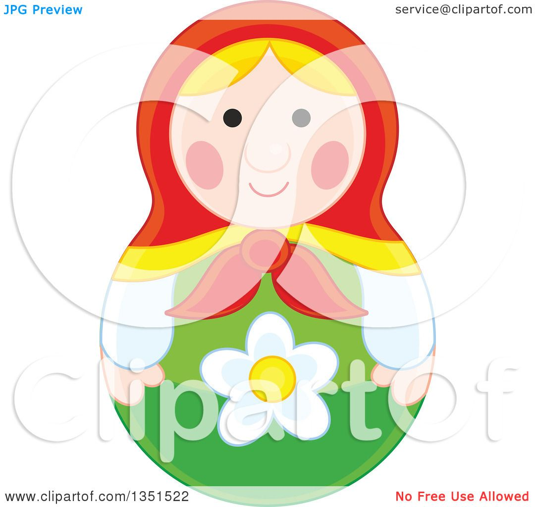 Clipart of a nesting doll toy royalty free vector for Free clipart no copyright
