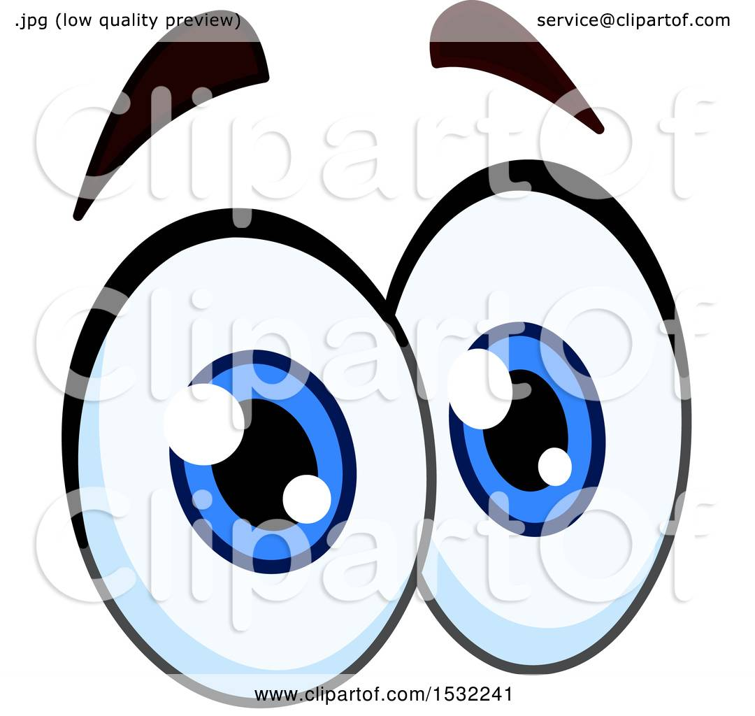 Clipart of a Pair of Cartoon Eyes with Raised Eyebrows ...