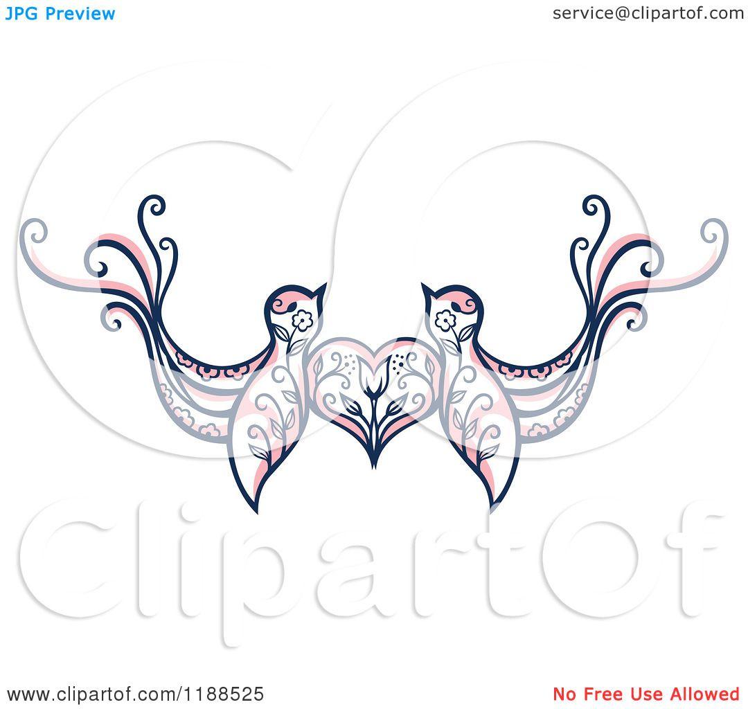 Love Birds Heart Tattoo Love Birds With a Heart