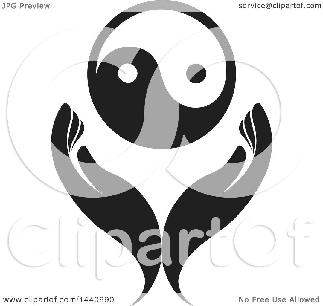 clipart of a pair of hands with a yin yang royalty free vector rh clipartof com Colorful Yin Yang Yin Yang Symbol Designs