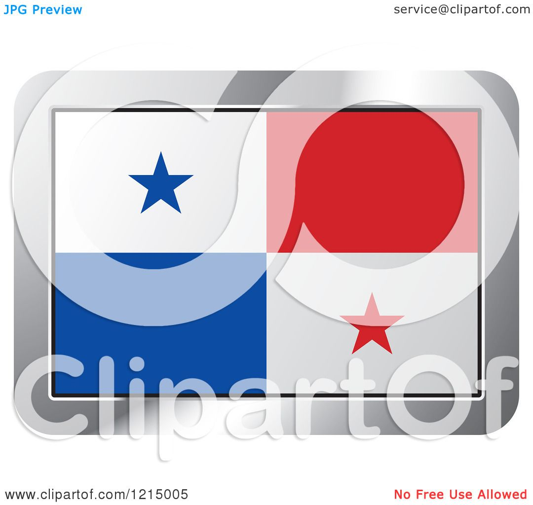 clipart of a panama flag and silver frame icon royalty free vector illustration by lal perera. Black Bedroom Furniture Sets. Home Design Ideas