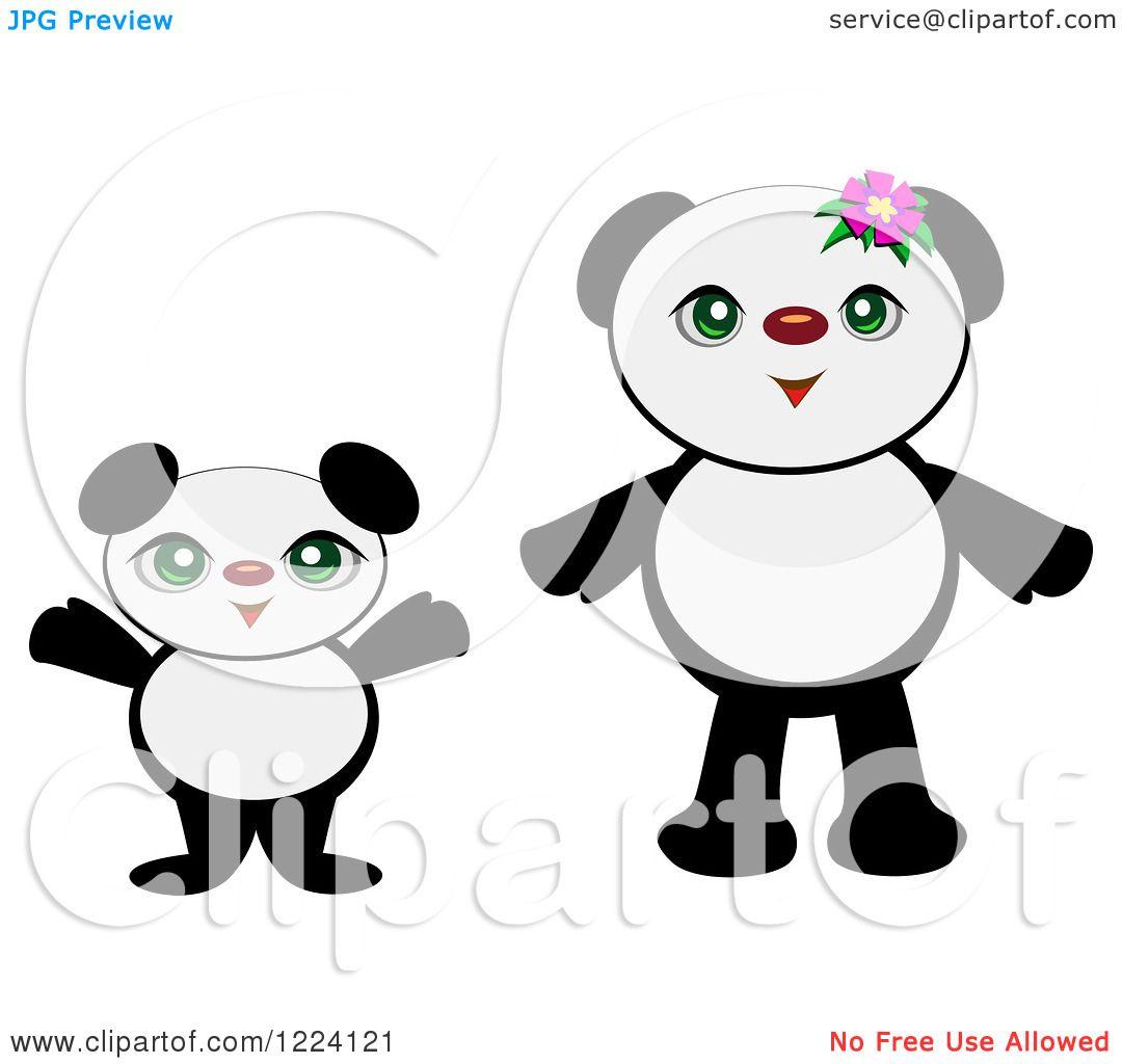 Newborn panda and mom - photo#46