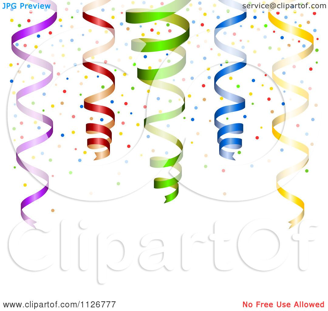 Clipart Of A Party Background With Colorful Confetti And