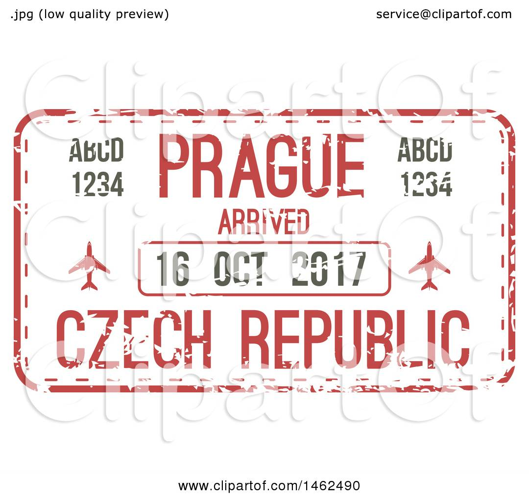 Clipart Of A Passport Stamp Design