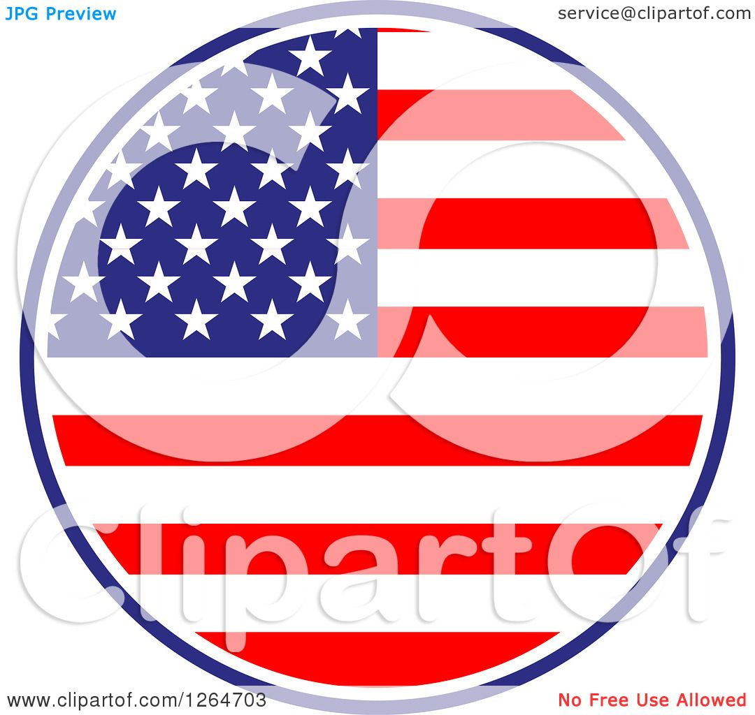 clipart of a patriotic american stars and stripes flag circle rh clipartof com free vintage americana clipart americana clipart free