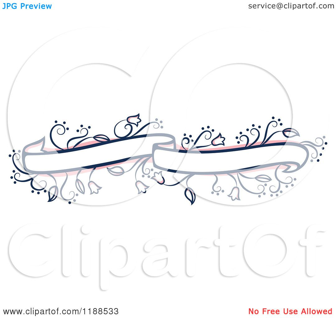 Wedding Banner Clipart Clipart of a Pi...