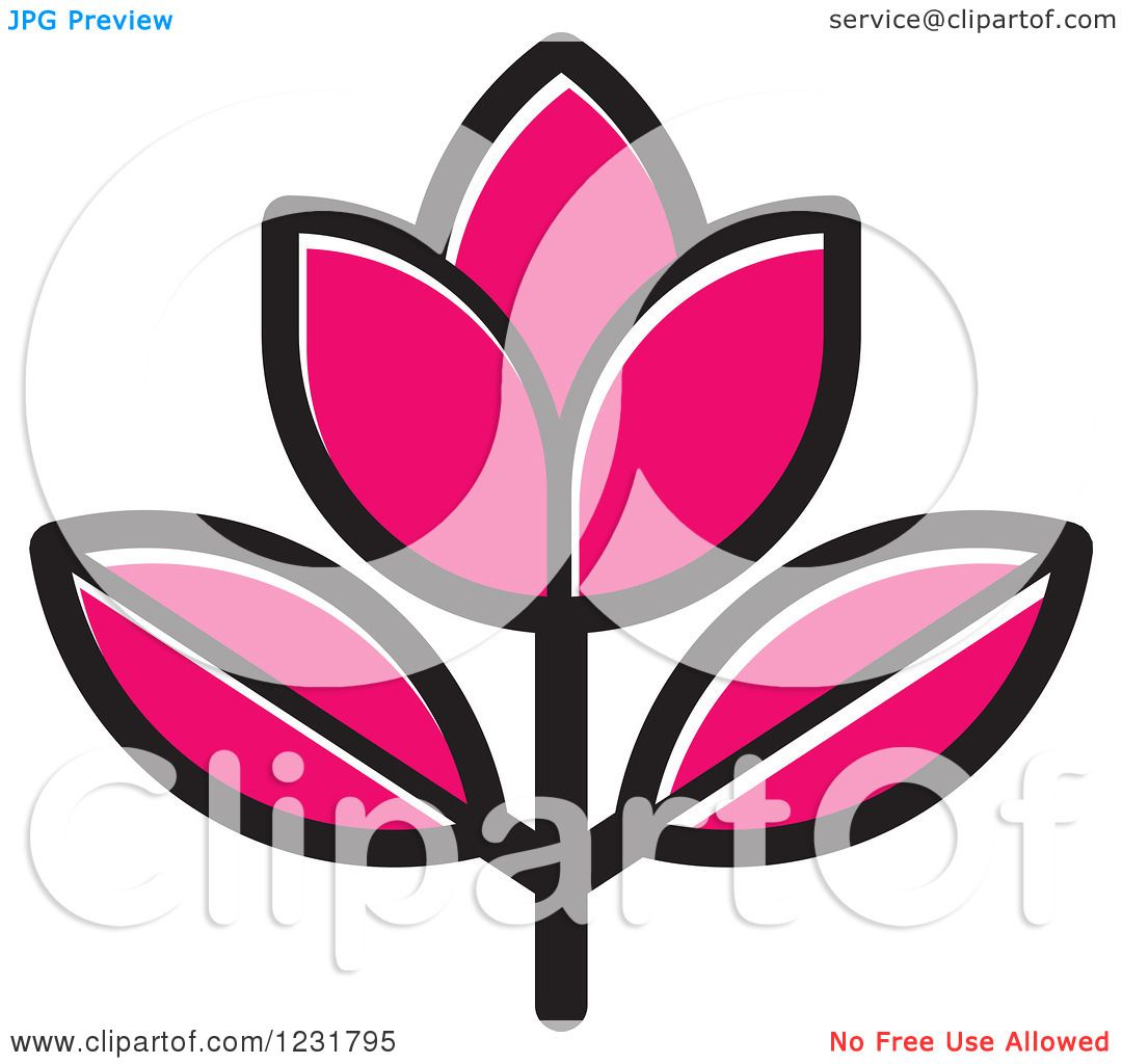 Clipart of a pink flower icon royalty free vector illustration by clipart of a pink flower icon royalty free vector illustration by lal perera mightylinksfo