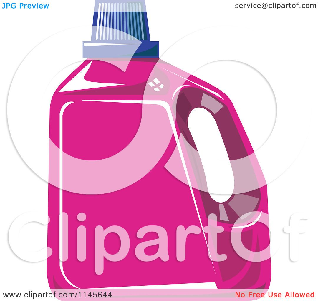 Laundry Detergent Clipart clipart of a pink liquid laundry detergent bottle - royalty free