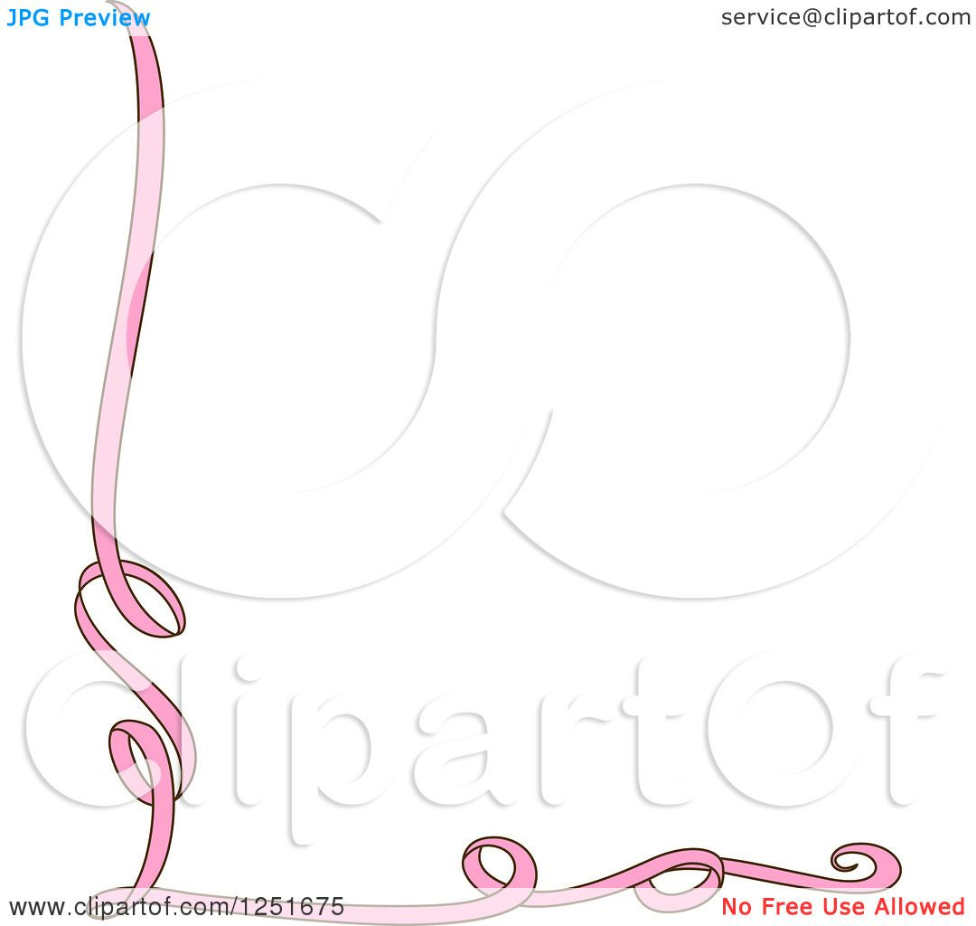 Clipart Of A Pink Ribbon Border Royalty Free Vector Illustration 10241251675