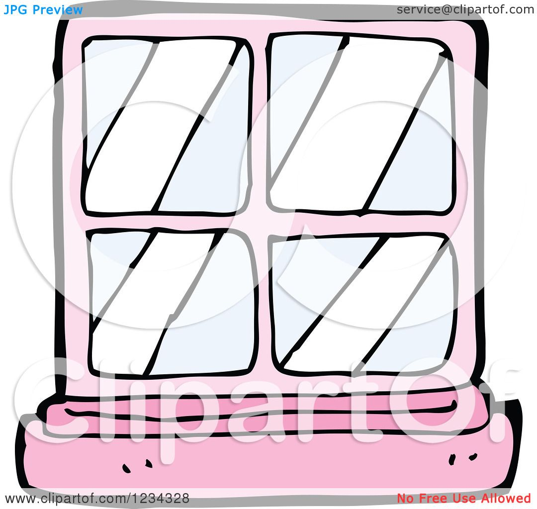 Clipart of a Pink Window - Royalty Free Vector Illustration by ...