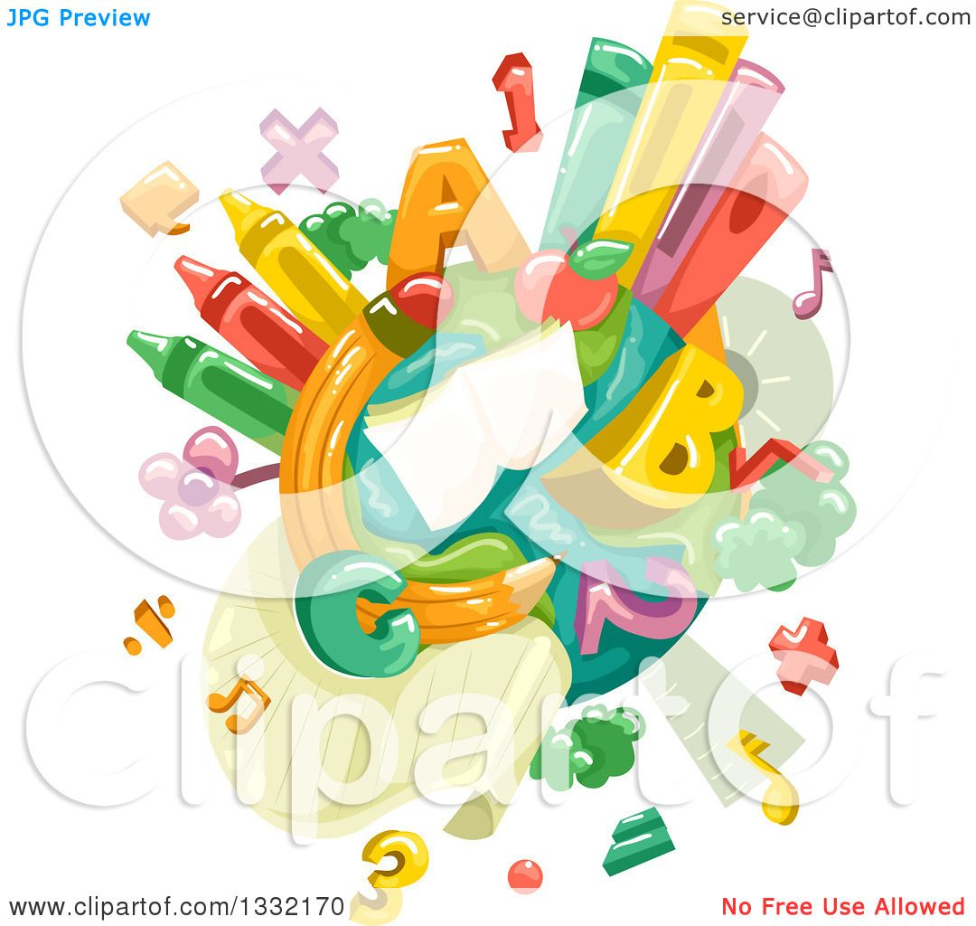Planet Clip Art Numbers