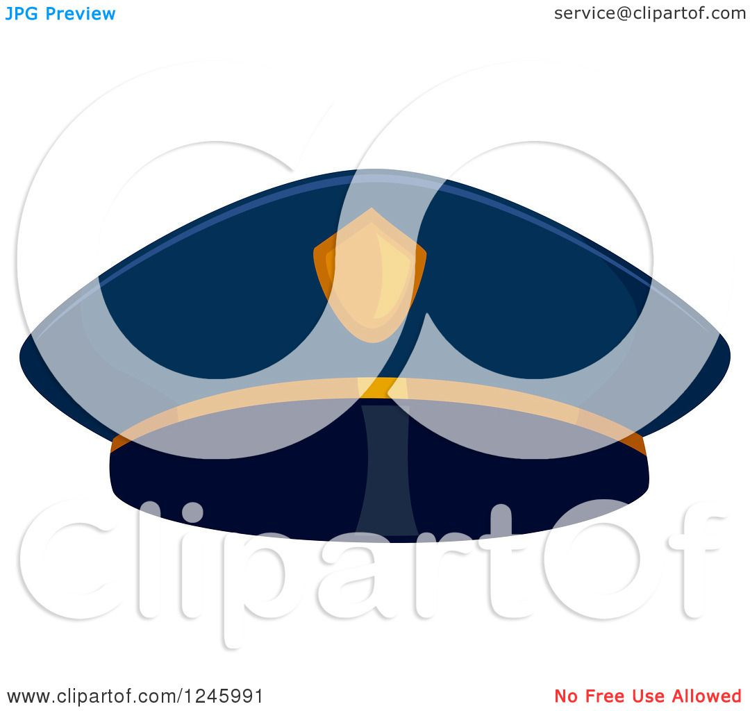 Clipart of a Police Man Hat - Royalty Free Vector Illustration by ...