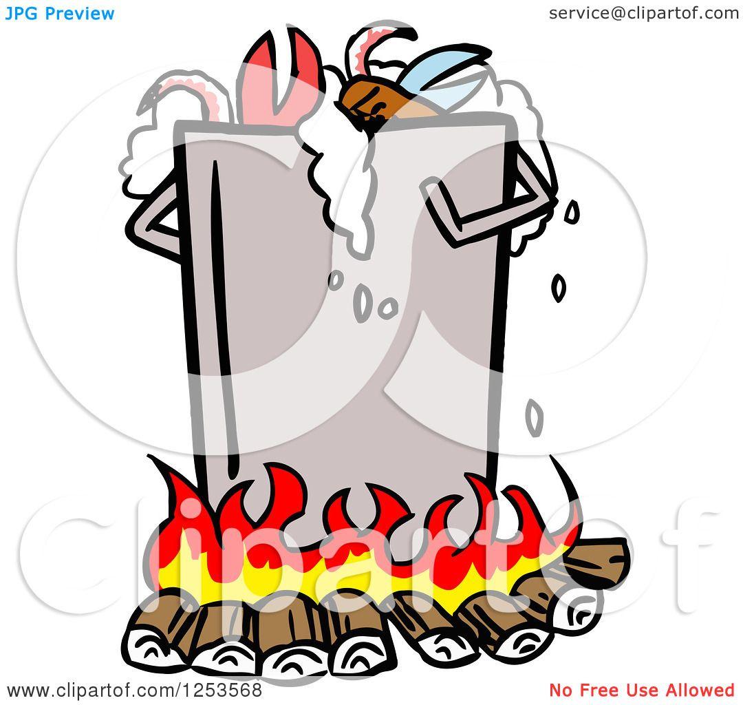 clipart of a pot of low country boil royalty free vector rh clipartof com Shrimp Boil Pot Clip Art Cajun Shrimp Boil Clip Art