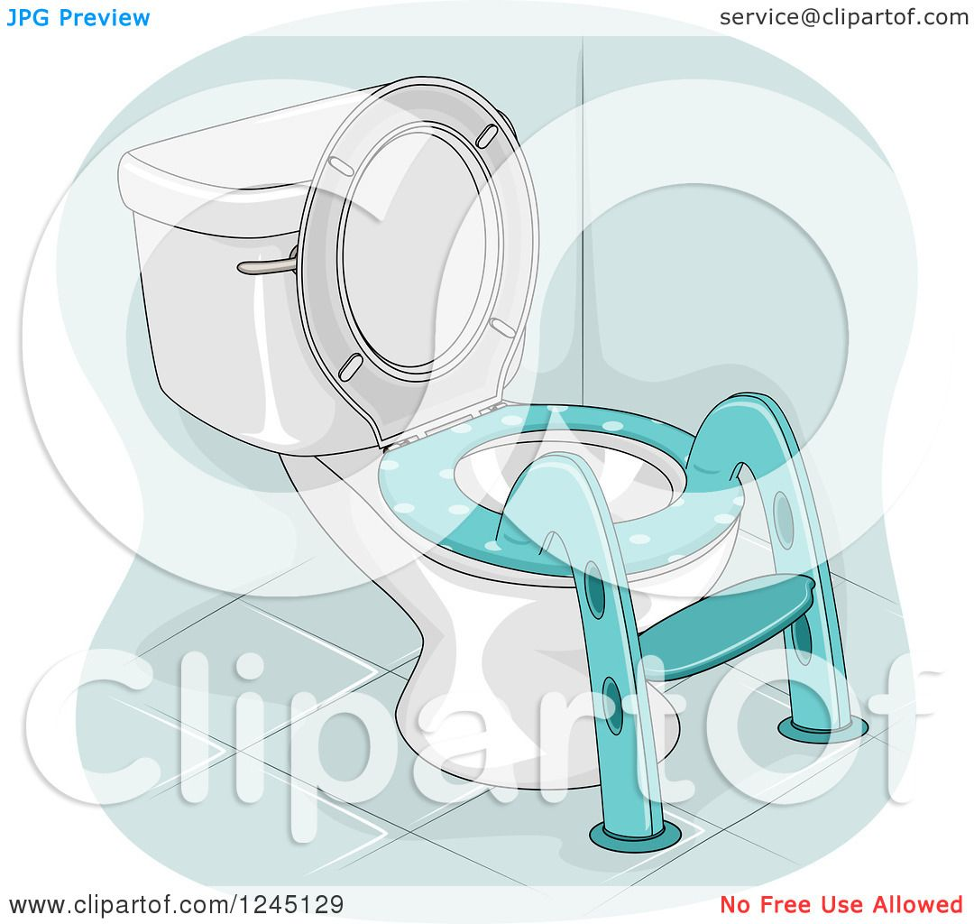 Royalty Free Toilet Clip Art Vector Images: Clipart Of A Potty Training Toilet Ladder