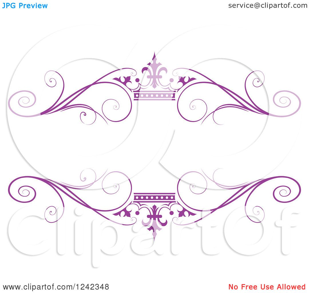Purple Princess Crown Clipart Clipart of a Purple Crown And