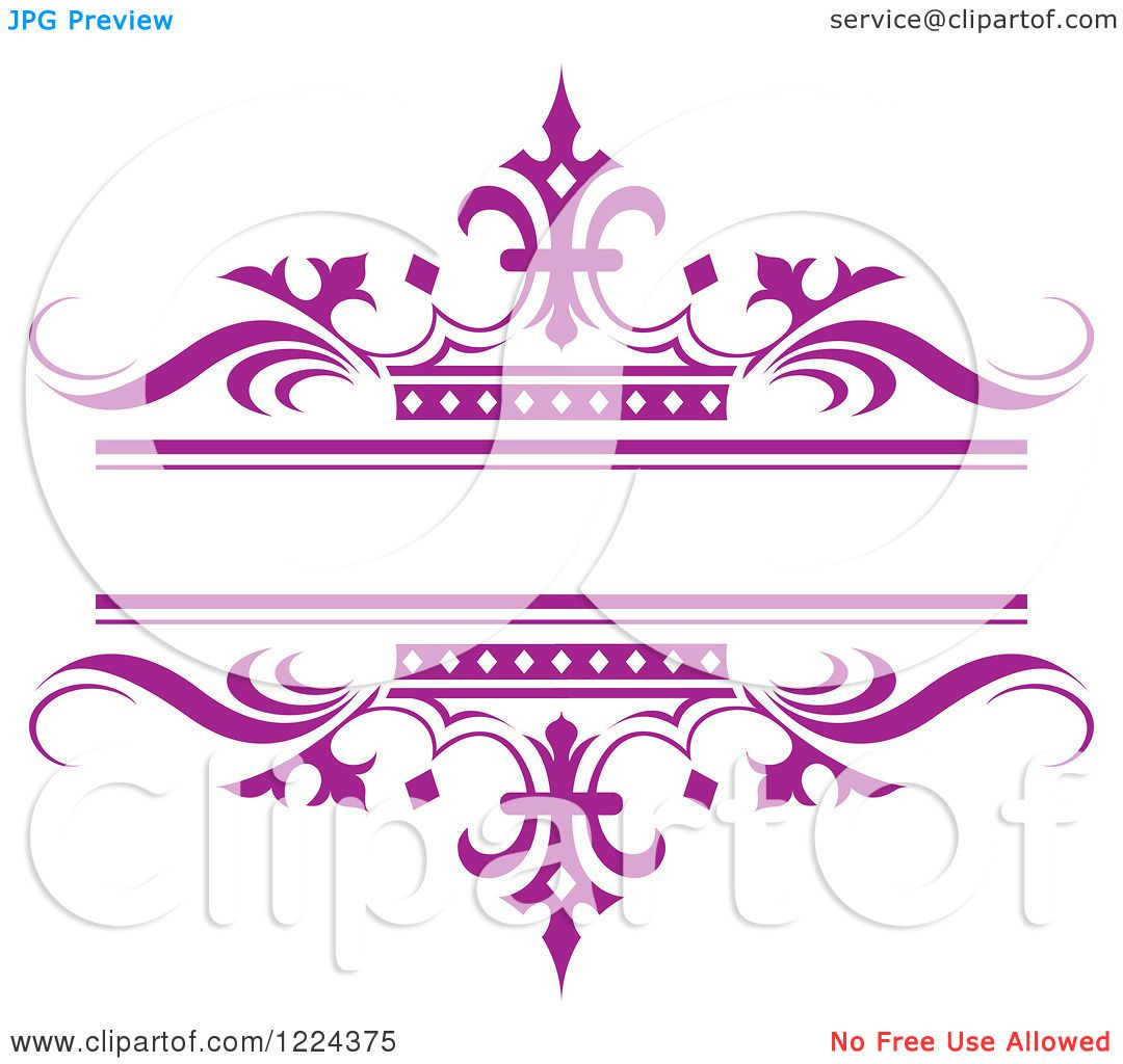 Purple Crown Clipart Clipart of a Purple Crown And