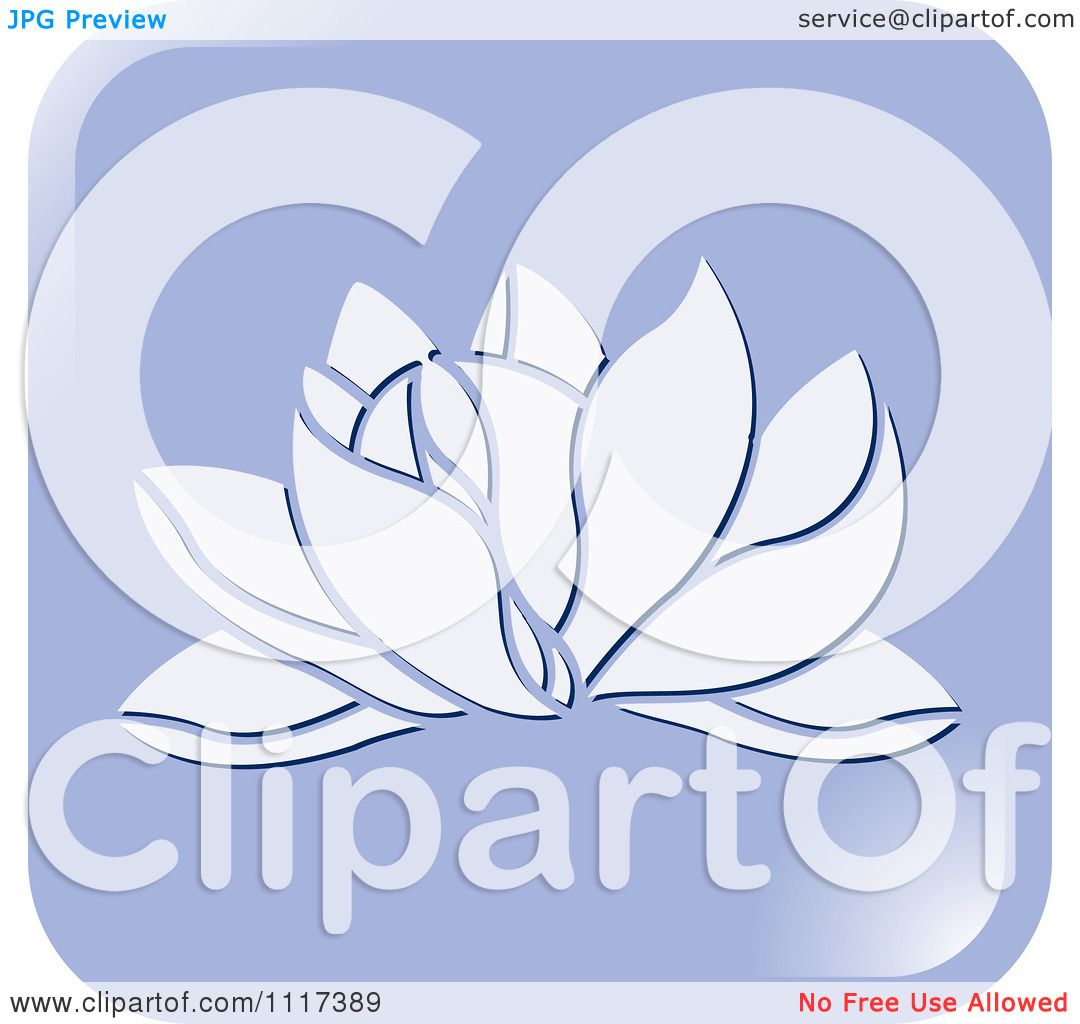 Clipart Of A Purple Lotus Flower Icon - Royalty Free Vector ...