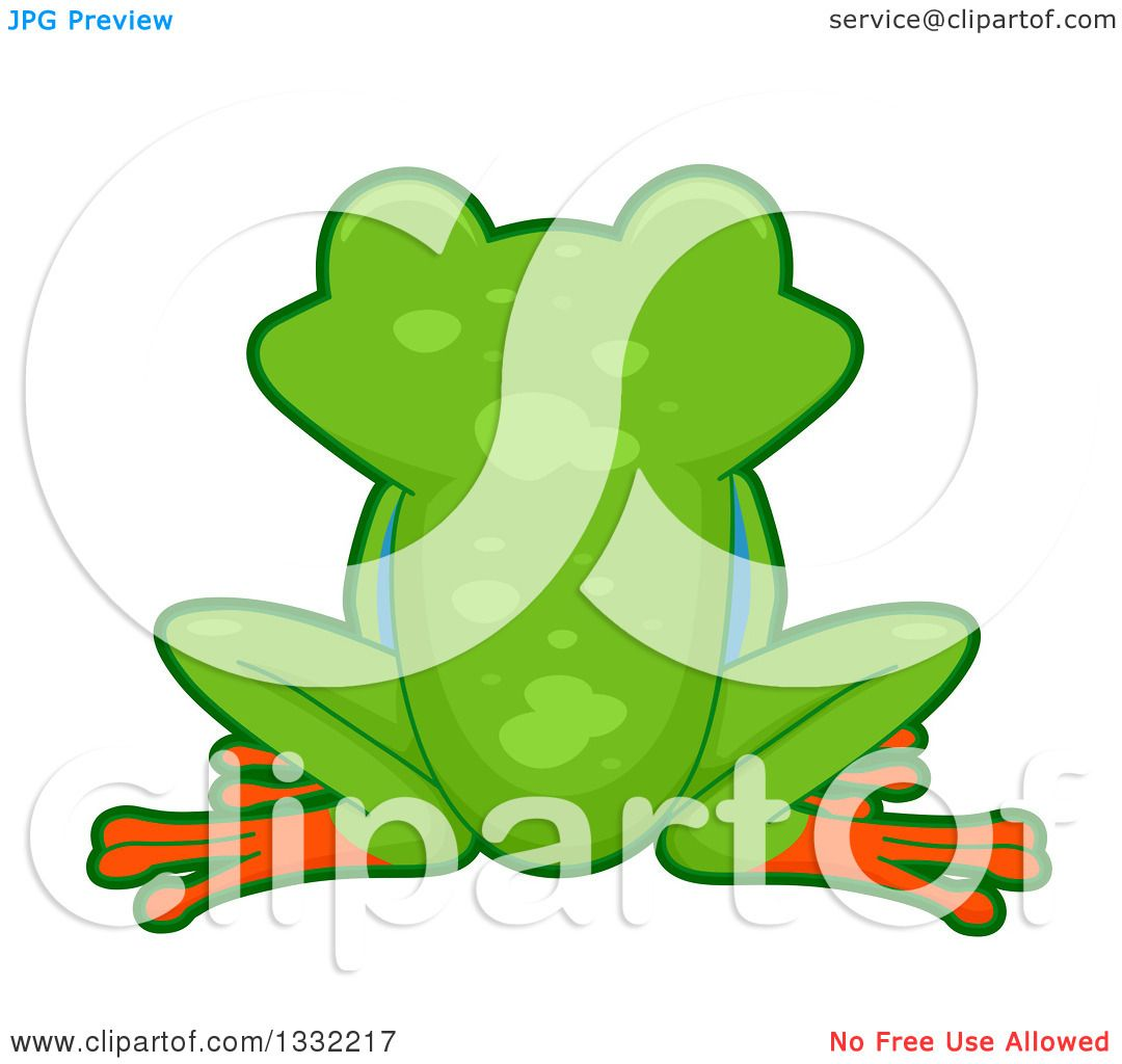Clipart Cute Red Eyed Tree Frog - Royalty Free Vector Illustration ...
