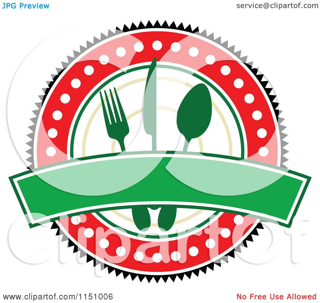 clipart of a red and green restaurant cafe or diner logo royalty rh clipartof com free clipart restaurant themes free restaurant clipart