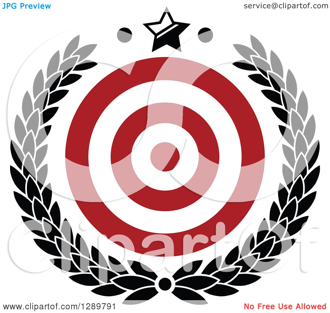 Clipart of a Red and White Bullseye Target for Archery or Throwing ...