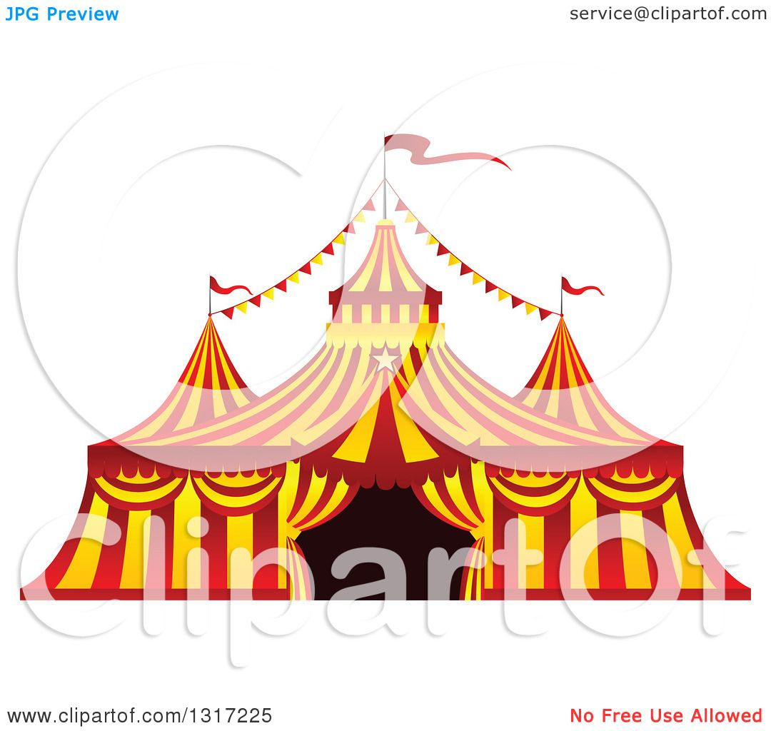 Clipart of a Red and Yellow Big Top Circus Tent - Royalty Free Vector Illustration by Vector Tradition SM  sc 1 st  Clipart Of & Clipart of a Red and Yellow Big Top Circus Tent - Royalty Free ...