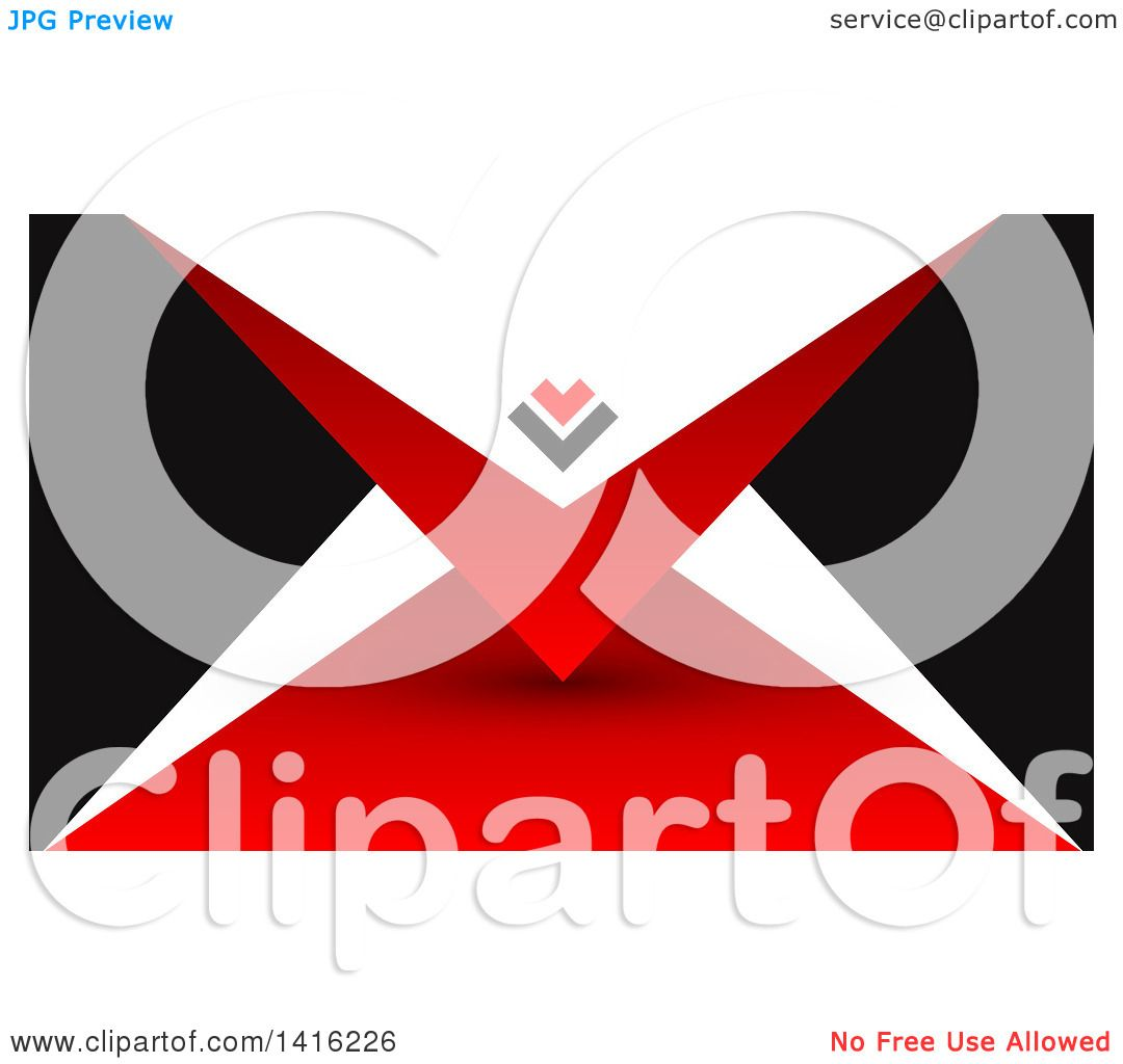 Clipart of a Red Black and White Business Card Design or Website ...