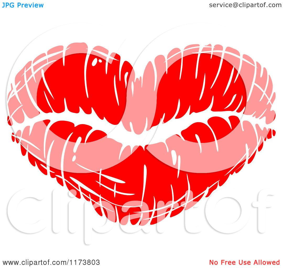 Clipart of a Red Lipstick Kiss - Royalty Free Vector ... Lipstick Kiss Vector