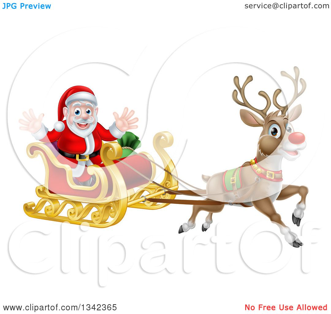 Rudolph the red nosed reindeer and santa