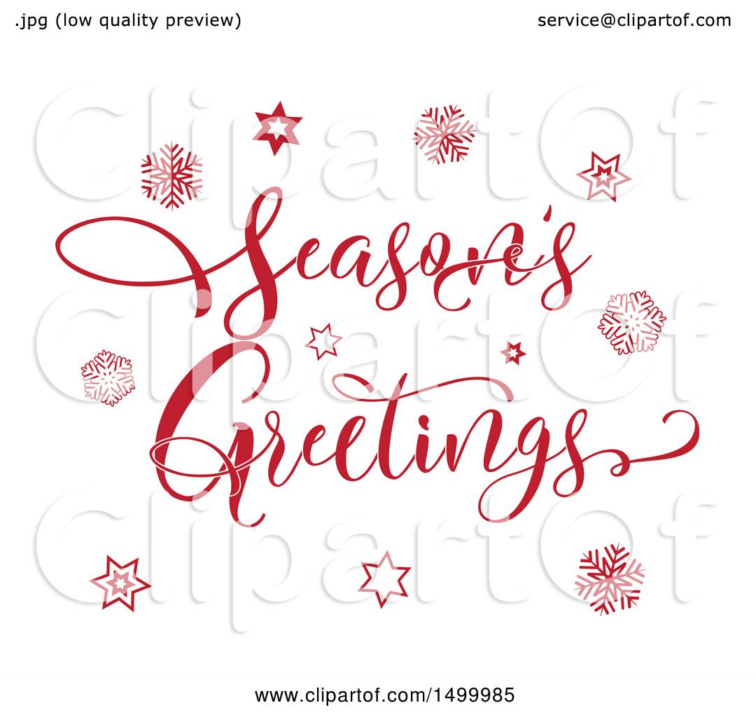 Clipart of a red seasons greetings text design with stars and clipart of a red seasons greetings text design with stars and snowflakes royalty free vector illustration by kj pargeter kristyandbryce Images