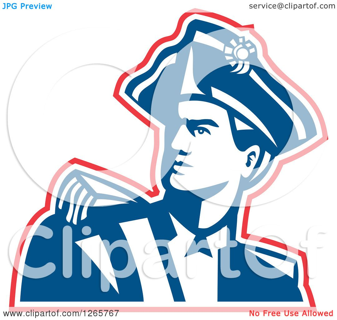 clipart of a red white and blue american revolution patriot soldier rh clipartof com american revolutionary war clipart american revolution clipart black and white