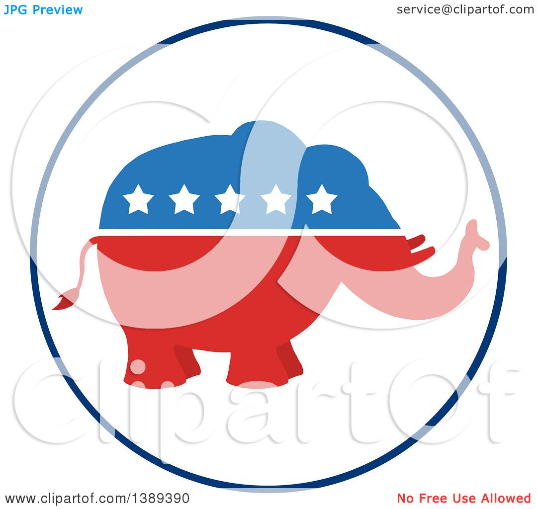 clipart of a red white and blue political republican elephant with rh clipartof com republican democrat clipart republican democrat clipart