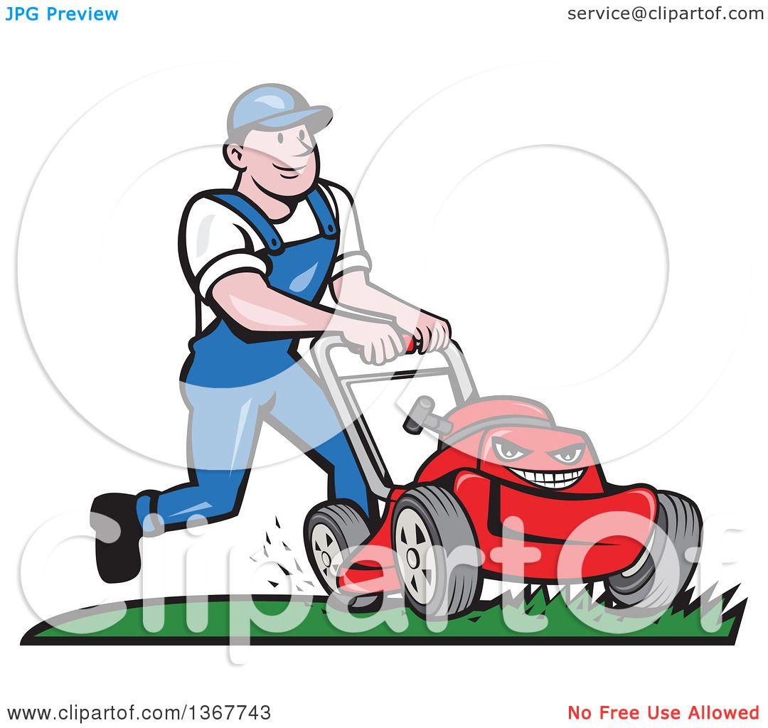 royalty free rf lawn mower clipart illustrations vector graphics 1 rh clipartof com free riding lawn mower clipart free lawn mowing clipart