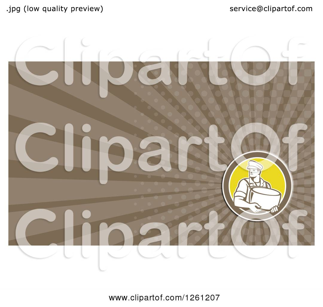 Clipart of a Retro Cheese Maker Business Card Design - Royalty Free ...