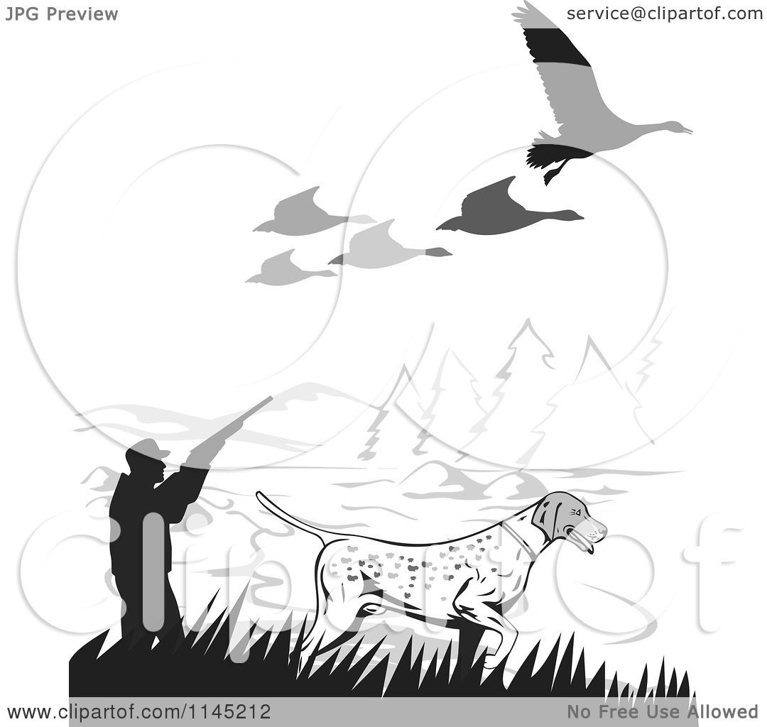 goose hunting clipart - photo #23