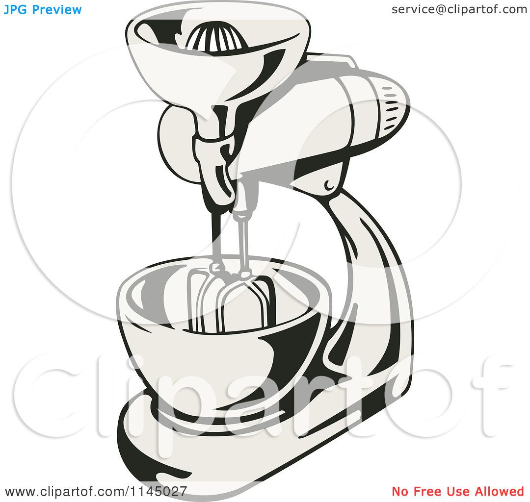 Retro Kitchen Illustration: Clipart Of A Retro Kitchen Mixer