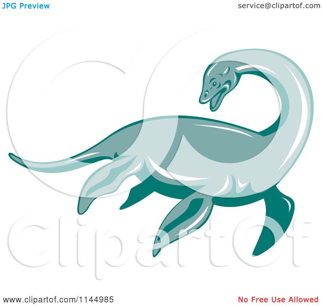 Loch Ness Monster Drawings Clipart of a retro loch ness