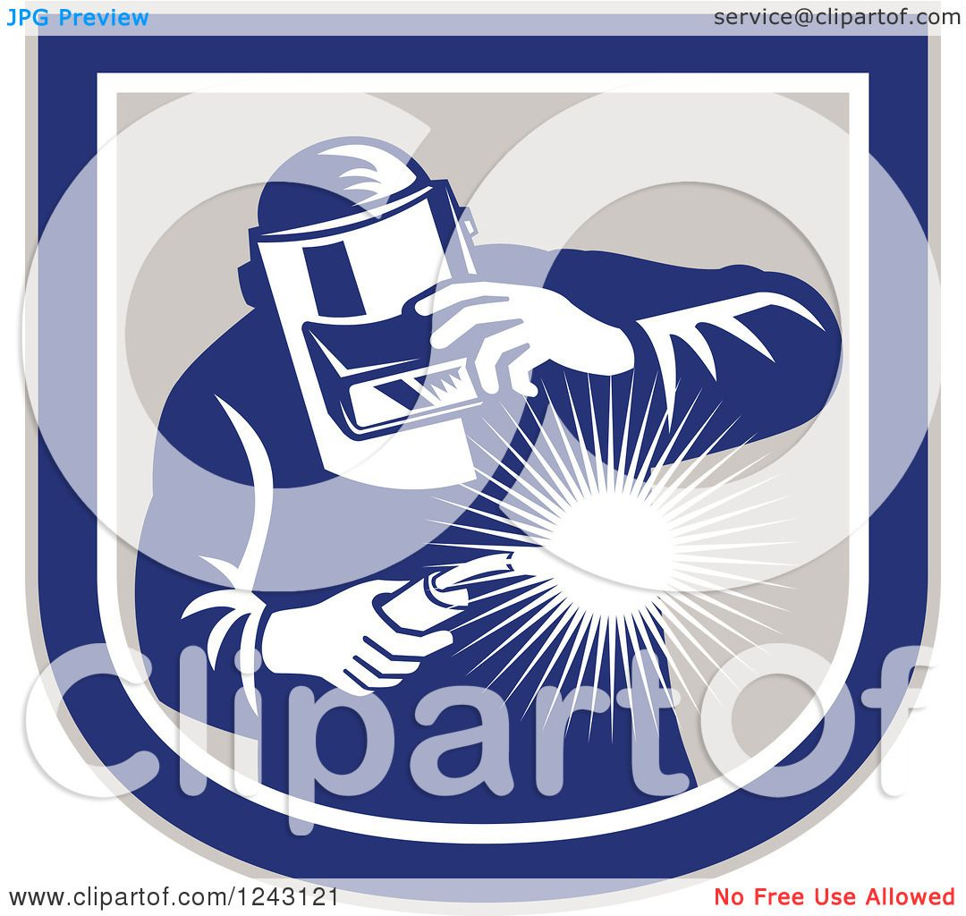 clipart of a retro male welder holding a torch in a shield clipart of a retro male welder holding a torch in a shield royalty vector illustration by patrimonio