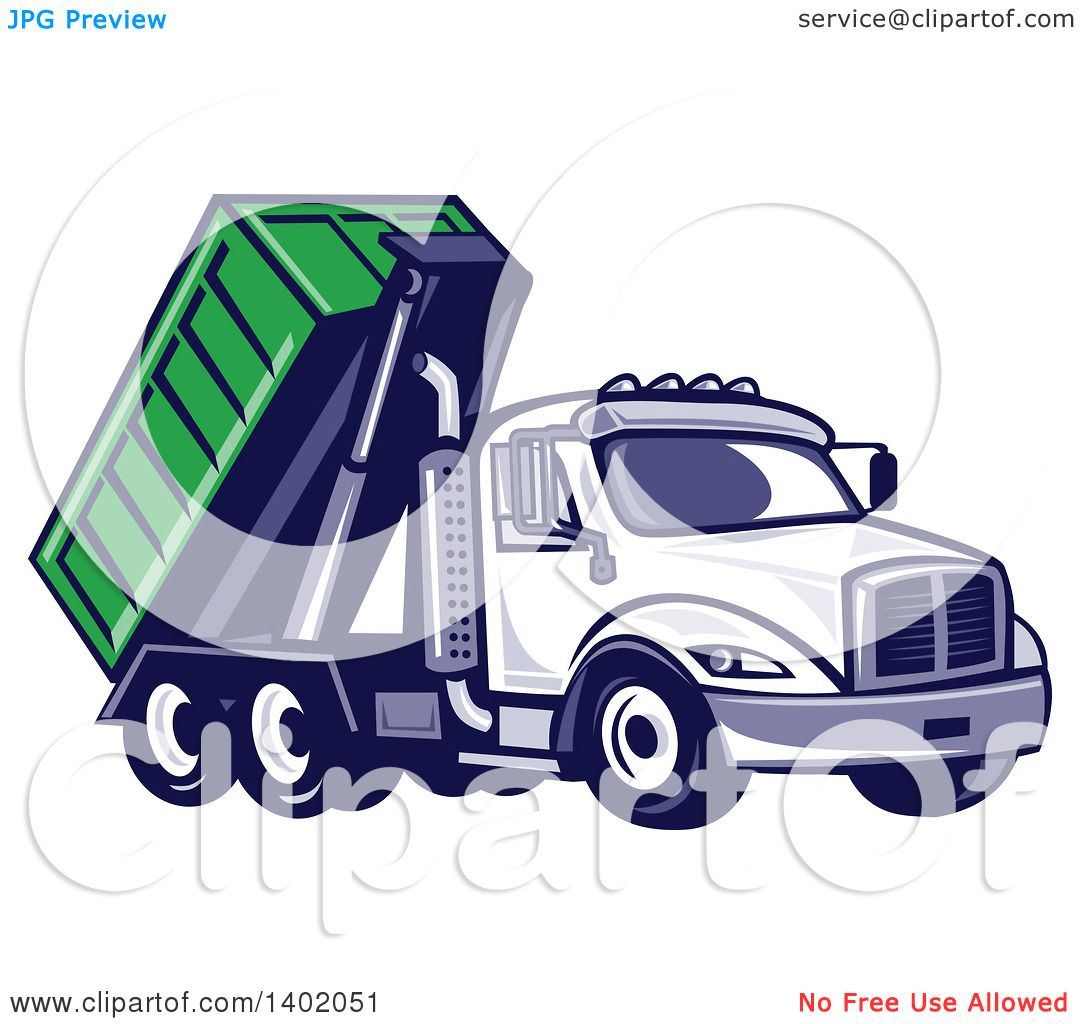clipart of a cartoon red dump truck mascot waving royalty free