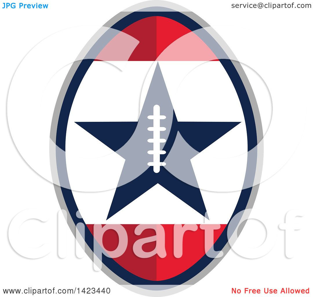 Clipart of a Retro Super Bowl 51 Football Design with a Star ...