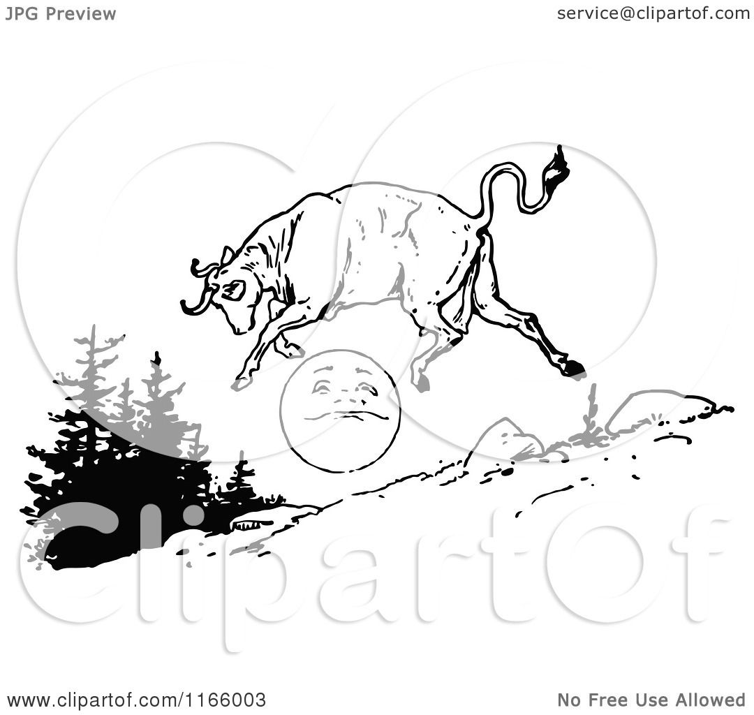 Jumping Cow Coloring Pages