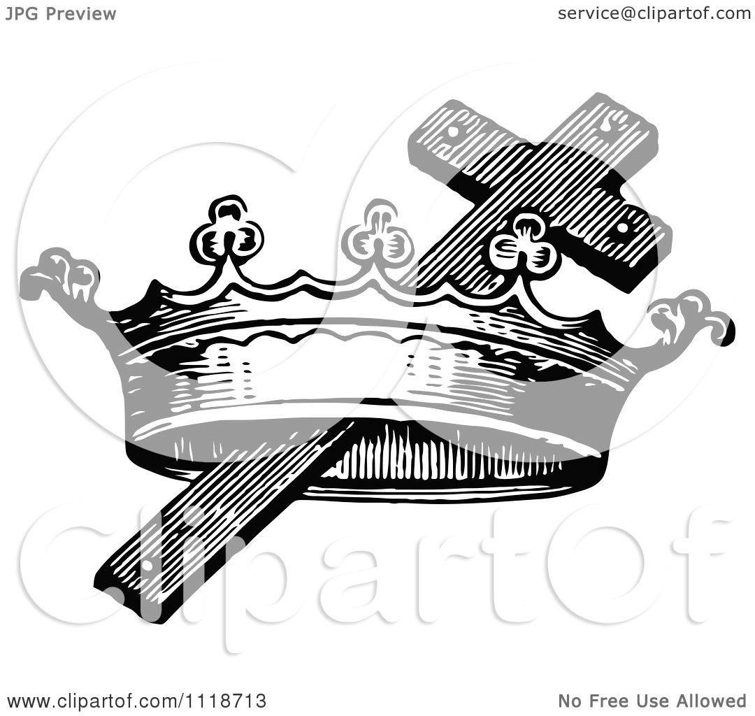 free cross and crown clipart - photo #28
