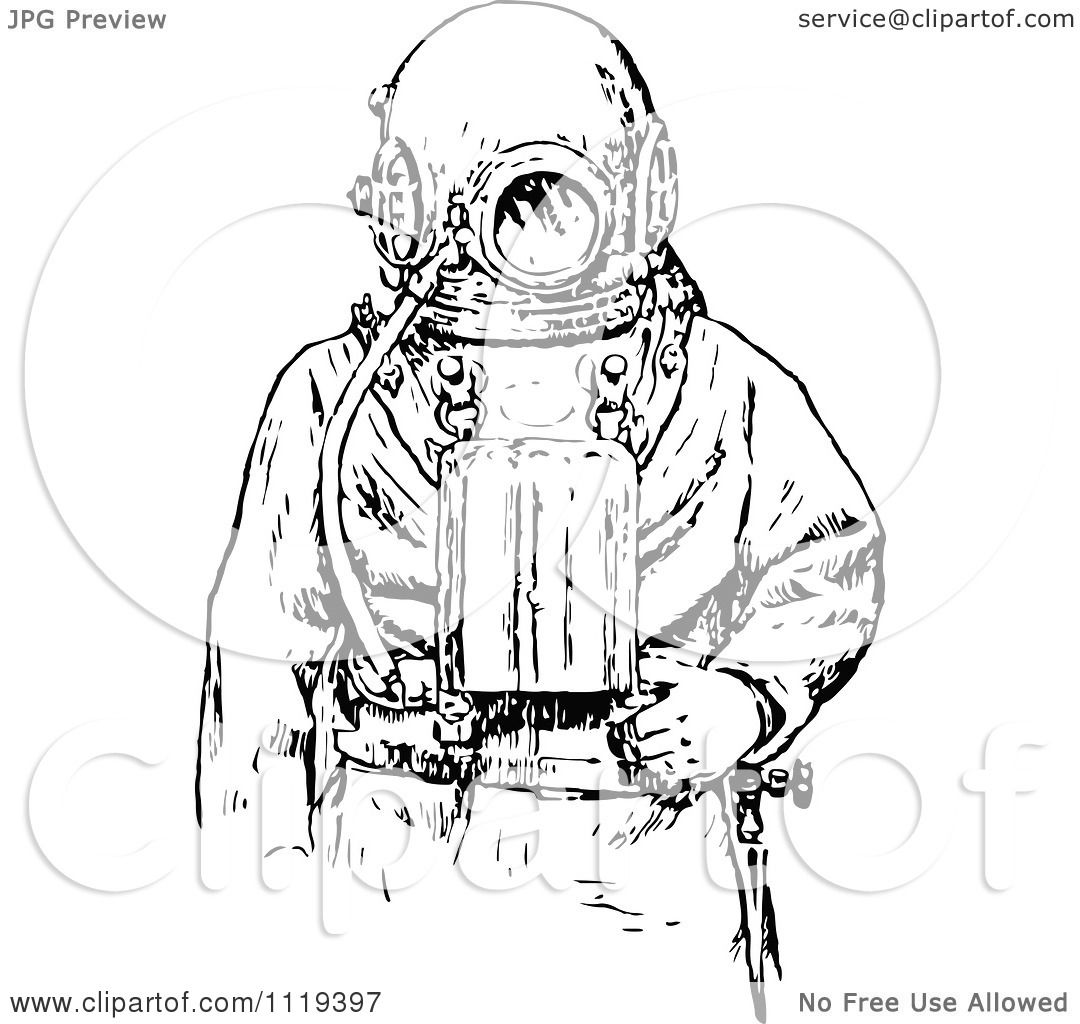 top vintage scuba diver drawing images for pinterest tattoos