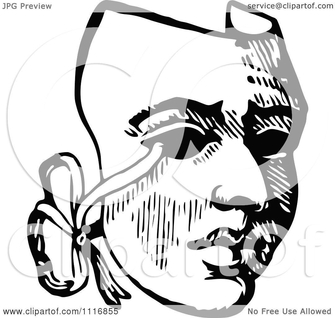 clipart of a retro vintage black and white drama theater